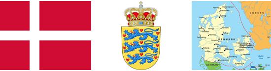 Dania - informacje. Herb i flaga Danii